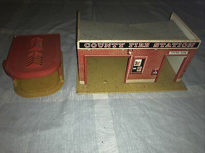 £27 • Buy 1960s Mettoy Tin County Fire Station & Plastic Garage