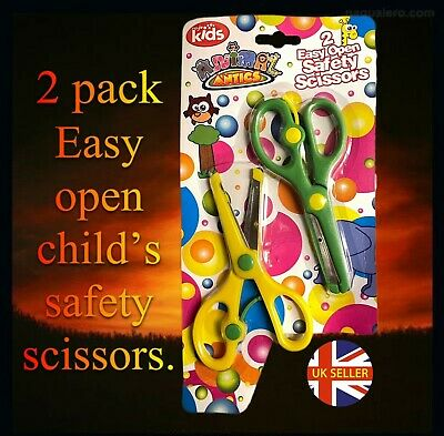 £2 • Buy Children's Easy Open Safety Scissors Twin Pack - Toddlers Crafting Ages 3+