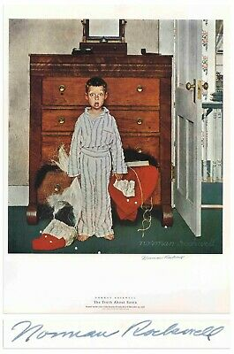 $ CDN1214.55 • Buy Truth About Santa Norman Rockwell Large Signed Print
