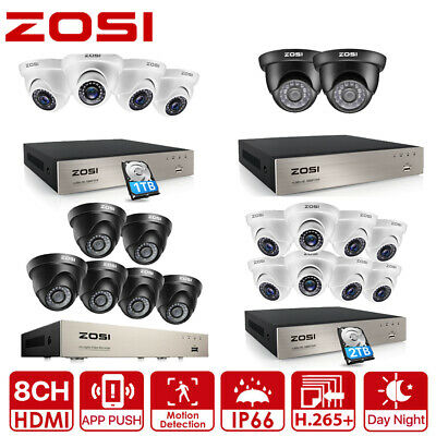 AU365.99 • Buy ZOSI CCTV Security Camera System 1080P H.265+ 8CH DVR Home 3000TVL Outdoor 0-2TB