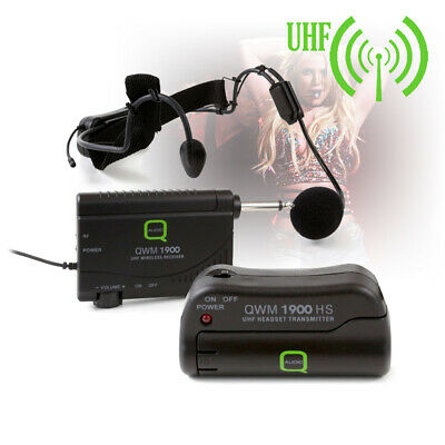 £85 • Buy B-Stock Q-Audio QWM 1900 HS UHF Wireless Headset Microphone System Channel 70