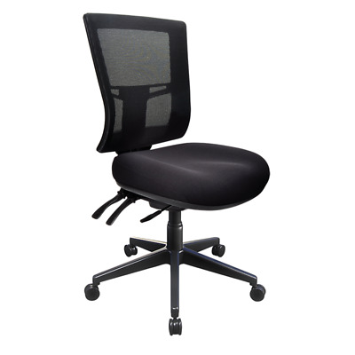AU369 • Buy Buro Metro II Ergonomic Chair Nylon Base Office Black Chair Mesh Back