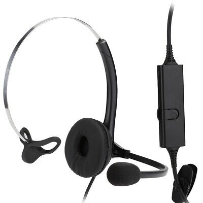 £12.77 • Buy RJ11 Call Center Telephone Headset Headphone With Noise Cancelling Mic Operator