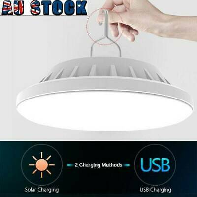 AU20.99 • Buy Rechargeable 120 LED Outdoor Camping Tent Light USB & Solar Lantern Market Lamp