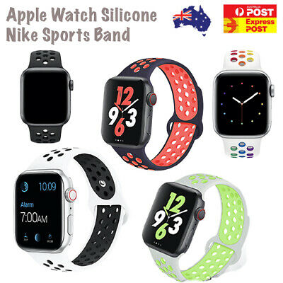 AU7.59 • Buy For Apple Watch Silicone Sport Band Replacement Nike 38/40/42/44mm
