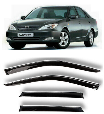 $109 • Buy Chrome Trim Window Visors Guard Vent Deflectors For Toyota Camry XV30 2002-2005