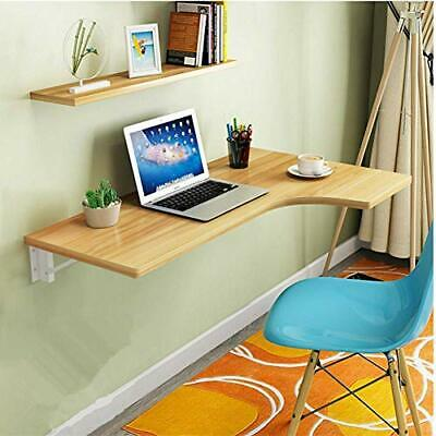 Corner Folding Computer Table - Wall Mounted Wooden Drop-leaf Desk - NEW • 107.99£