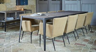 Modern Steel Dining Table With Acacia Wood Top • 945£