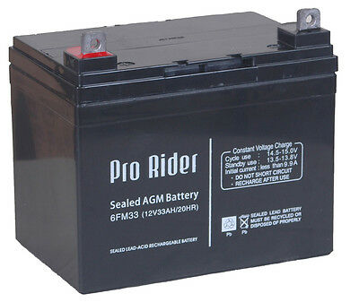 £27.99 • Buy 12V 10 12 33 36 50 55AH AGM Batteries Mobility Scooter