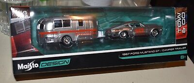 $16 • Buy MAISTO DESIGN TOW & GO 1967 Ford Mustang GT & Camper Trailer NEW