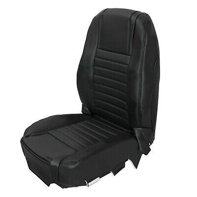 $122.50 • Buy For 2005-2009 Ford Mustang Driver Bottom-Top Black Seat Cover Set