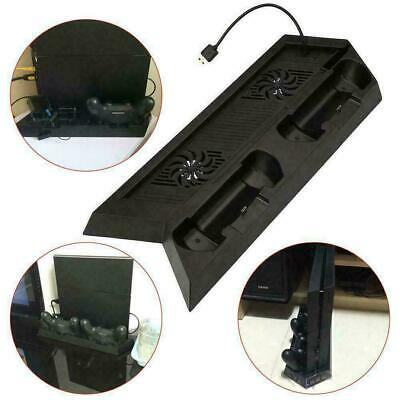 AU21.99 • Buy For PlayStation 4 PS4 Vertical Stand With Cooling Fans Charging Dock And USB Hub