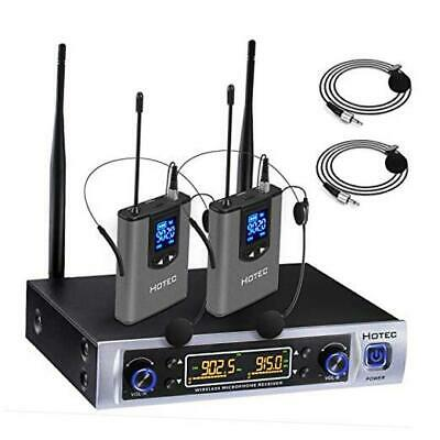 UHF Dual Wireless Microphone System With Lapel Lavalier And Headset  • 99.13£