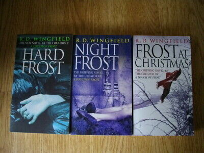 3 Books By R.D. Wingfield, Hard Frost, Night Frost, Frost At Christmas,  • 8£