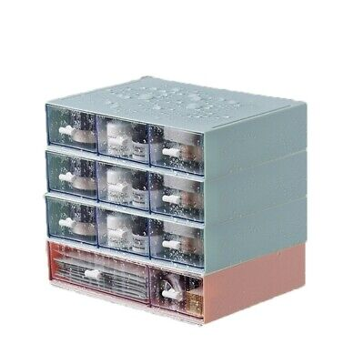 Multi Compartment Drawer Storage Box Stackable Office Desktop Cosmetic Holder UK • 8.79£