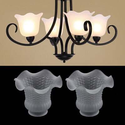 2pcs Glass Chandelier Lamp Shade Bedside Ceiling Lamp Lampshade For Bedroom • 16.49£