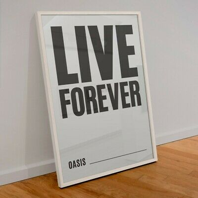 £10.99 • Buy Oasis Live Forever Print - Wall Art-A4 Size Premium Gloss Paper
