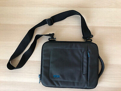 STM Case Bag For IPad/Tablet Sleeve Small Gray/Black Padded W/Adjustable Strap • 6.38£