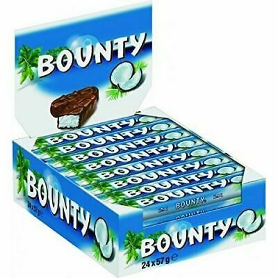 Bounty Milk Chocolate Double Bars, Pack Of 24 - 57g • 12.99£