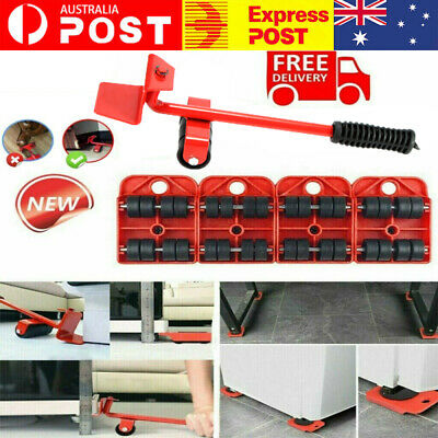 AU17.99 • Buy Furniture Lifter Heavy Roller Move Tool Set Moving Wheel Mover Sliders Kit AU