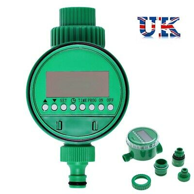 Automatic Electronic Water Garden Hose Watering Timer Irrigation System Taps LCD • 10.86£