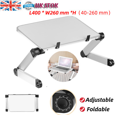 2Lightweight Adjustable Laptop Bed Table Stand PC Desk Sofa Lap Tray Foldable • 11.93£