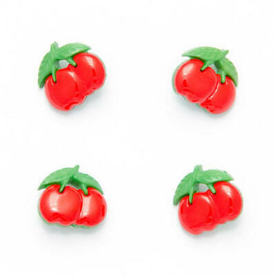 RED CHERRY CHERRIES SHAPED 16MM  Buttons X10 Novelty  Shank Craft KNITTING  • 2.85£