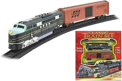 £14.20 • Buy Classic Train Set Toy With Tracks Light Engine Battery Operated Kandy Toys Gift