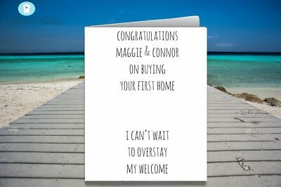 Personalised New Home Card. Unique, Funny & High Quality Card.  • 3.50£