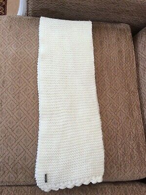 Calvin Klein Women's Heavy Knit Scarf, In Cream • 10£