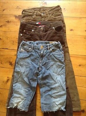 £5.99 • Buy Unisex Kids Studded Diesel Cut Offs Hilfiger Cords, Replay Jeans Size 6-7