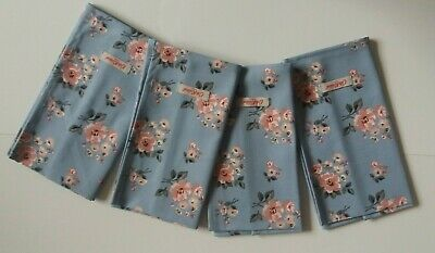 £14.99 • Buy Cath Kidston Set Of 4 Napkns Grove Bunch Gry Blue