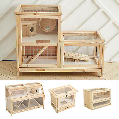 £49.95 • Buy Large Wooden Hamster Cage Mouse Mice Rat Rodents Hutch Small Pet Play House New