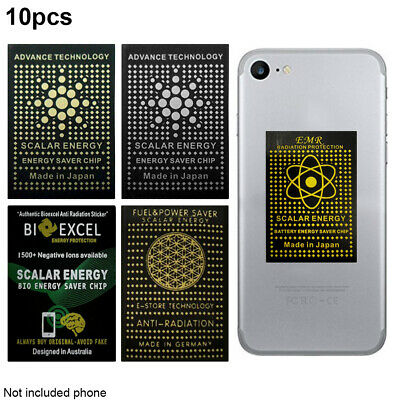 10x Cell Phone Anti Radiation Shield EMF Protection Neutralizer Sticker Scalar • 6.83£