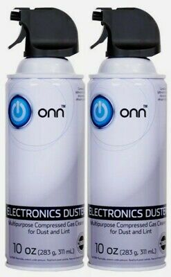 Computer Electronics Duster Compressed Air Cleaner 2 PK 10oz Each ONN Brand NEW • 6.51£