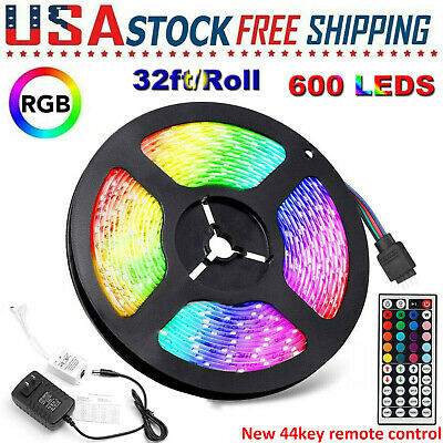 $11.99 • Buy 32FT Flexible 3528 RGB LED SMD Strip Light Remote Fairy Lights Room Party Bar TV