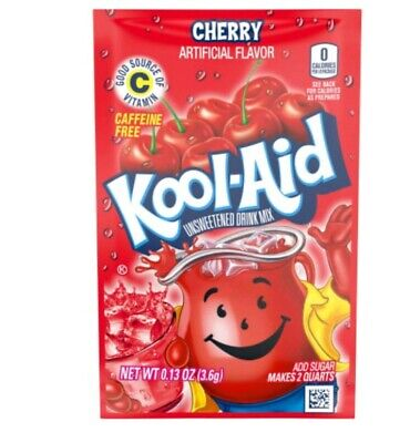 Kool-Aid Drink Mix 🍒 Cherry 8 Packets New !!!!!!!!!!!!!!!!!!!!!!!!!!!!!!!!!! • 4.25£