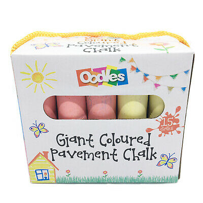 £1.95 • Buy Oodles Giant Coloured Pavement Chalks, 15 Pack, 6 X Colours, 3 Years+
