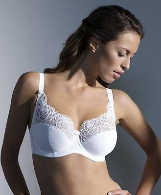 £16.45 • Buy Panache 4035 Harmony Lace Full Cup / Coverage Bra In White VARIOUS