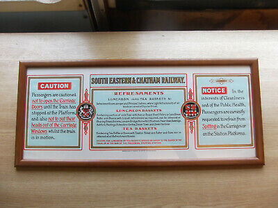 £16 • Buy Railway Carriage Compartment Advertisement, SECR, Reproduction