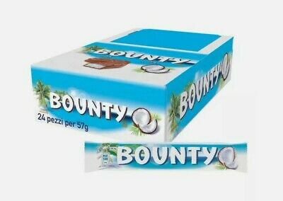 Bounty Milk Chocolate Full Box 24 X 57g Bars • 12.59£