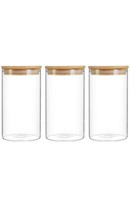 300ml Glass Jar With Bamboo Lid Herbs And Spices Jars • 8.99£