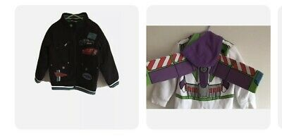 Disney Cars Lightening McQueen Jacket Boys Age 4 & Toy Stoy Buzz Hoodie- 2 Items • 17.99£