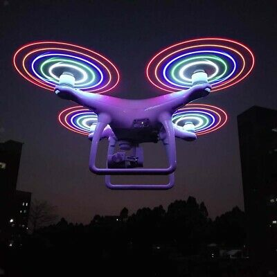 AU23.90 • Buy LED Light Propellers Props Recharging For DJI Phantom 3/4/4 Pro Quadcopter