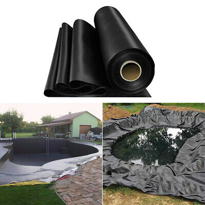 Black Garden HDPE Liner Outdoor Fish Pond Liners Membrane Landscaping All Sizes • 55.14£