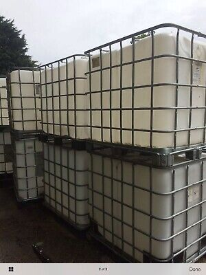 IBC 1000 Litre Storage Container Tank, Used Once • 40£