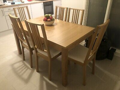 BJURSTA/BÖRJE Extendable Dining Table And 6 Chairs • 245£