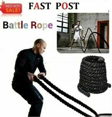 AU45.95 • Buy 9M 15M Heavy Home Gym Battle Rope Battling Strength Training Exercise Fitness