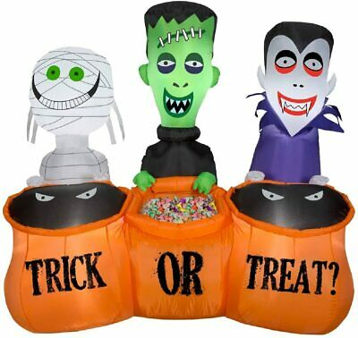$ CDN126.44 • Buy 5' FT Long Halloween Monster Trick Or Treaters Airblown Inflatable Yard Decor