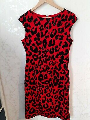£13.50 • Buy Ladies Roman Dress Size 14 Red And Black Rouched Style Sparkly Lined